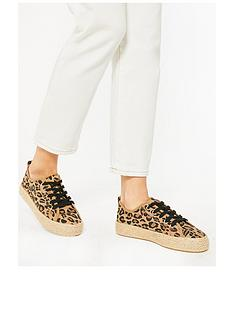 new-look-leopard-print-rope-sole-trainer-animal