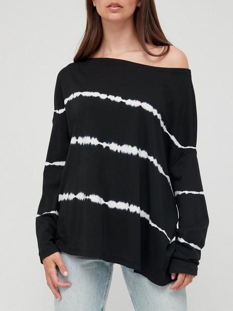allsaints-rita-tie-dye-top-black