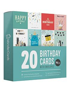 wondercards-pack-of-20-eco-friendly-birthday-cardsnbspsuitable-for-all