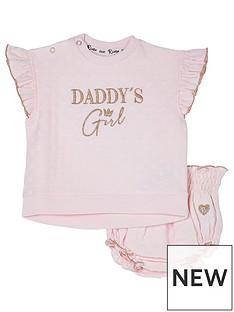 river-island-baby-baby-pink-daddys-girl-bloomer-set
