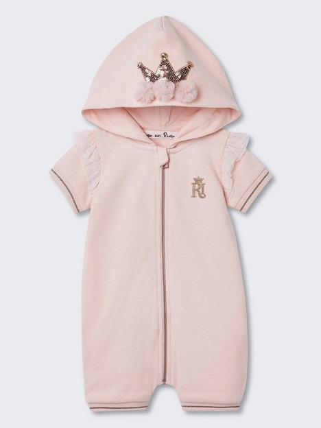 river-island-baby-baby-girls-hooded-crown-zip-bodysuit--pink