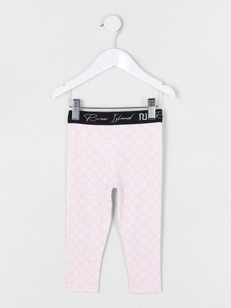 river-island-mini-girls-logo-leggings-pink