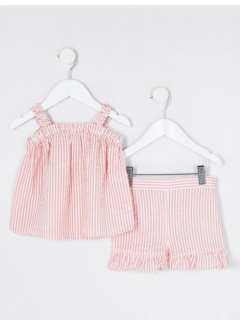 river-island-mini-mini-girls-stripe-cami-and-short-set-pink