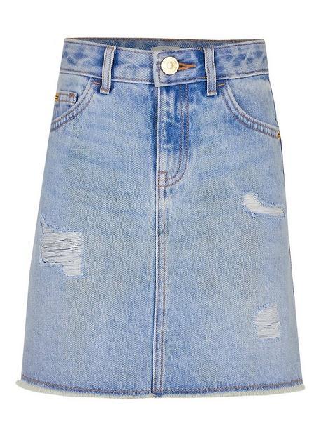 river-island-girls-blue-ripped-denim-skirt