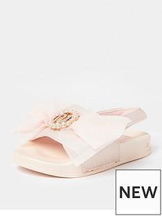 river-island-mini-girlsnbspri-organza-bow-sliders-pink
