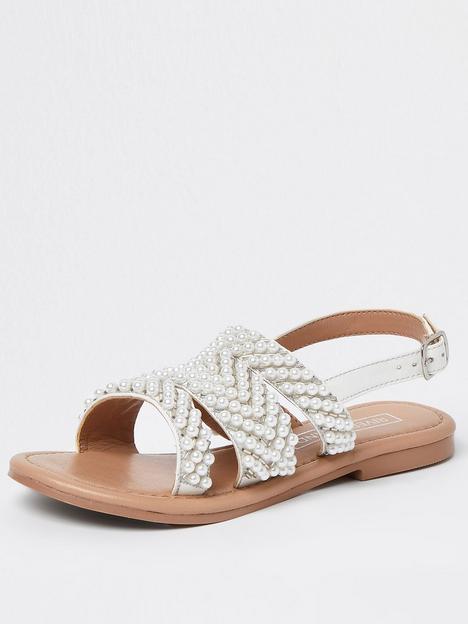 river-island-girls-pearl-sandal-cream