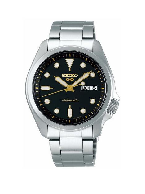 seiko-seiko-sport-dark-blue-dial-orange-accents-stainless-steel-bracelet-watch