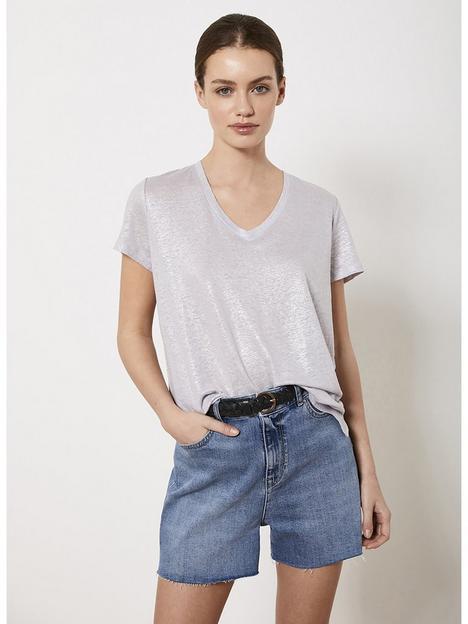 mint-velvet-shimmer-linen-v-neck-t-shirt-multi