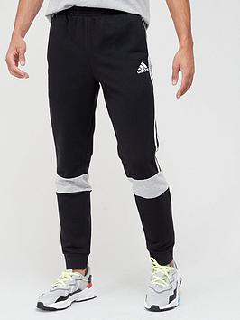 adidas-colourblock-sweat-pants-blackgrey