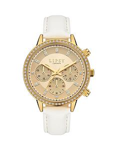 lipsy-lipsy-gold-tone-multi-dial-white-strap-watch