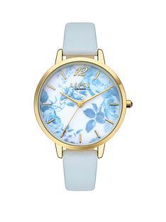 lipsy-white-blue-floral-dial-strap-watch