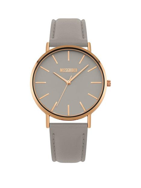 missguided-grey-dial-grey-strap-watch