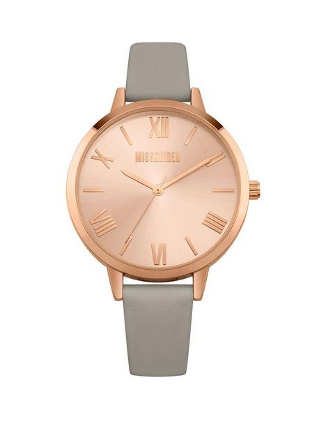 missguided-missguided-goldtone-dial-grey-strap-watch