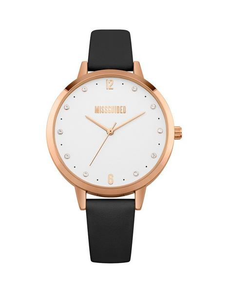 missguided-white-dial-black-strap-watch