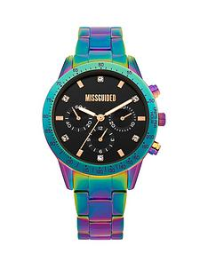 missguided-missguided-black-multi-dial-petrol-tone-stainless-steel-watch
