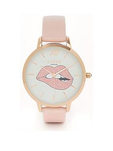 lipsy-mouth-dial-pink-strap-watch