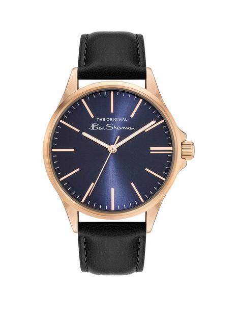 ben-sherman-ben-sherman-blue-dial-gold-tone-case-blue-strap-watch
