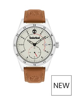 timberland-timberland-cream-multi-dial-tan-strap-watch