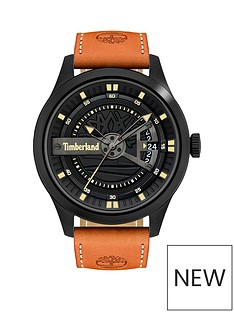 timberland-black-dial-tan-strap-watch
