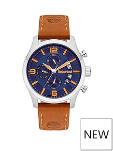 timberland-blue-dial-tan-strap-watch