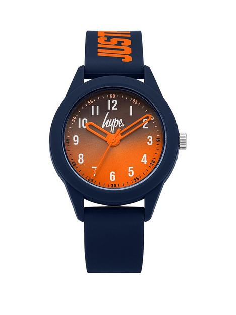 hype-orange-navy-kids-watch