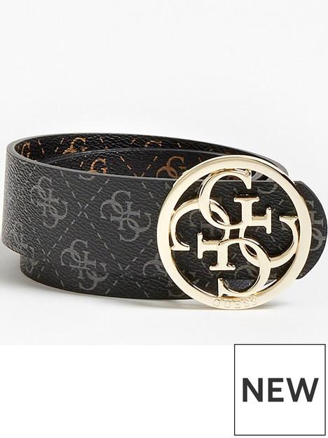 guess-washington-logo-detail-belt-blackbrown