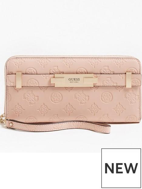 guess-bea-zip-around-logo-purse-pink