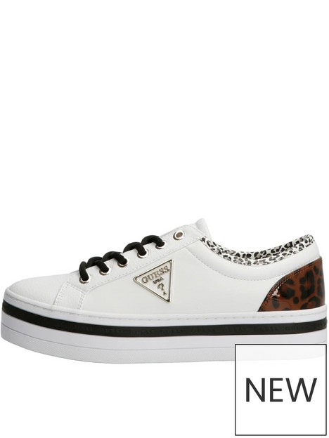 guess-bhania-flatform-lace-up-trainers-white