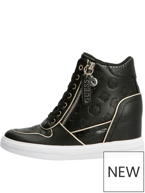 guess-nangy-wedge-trainers-black