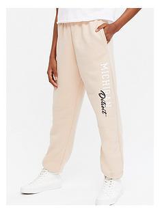 new-look-girlsnbspmichigan-cuffed-jogger-light-brown