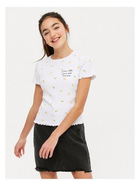new-look-girlsnbsplemon-all-over-printnbsplettuce-edge-tee-white