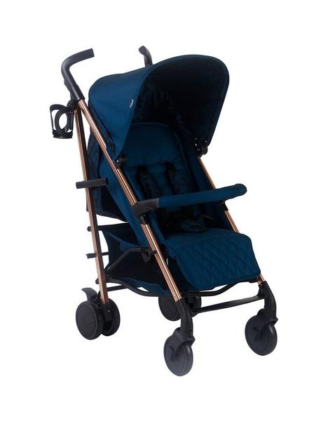 my-babiie-dani-dyer-navy-leopard-lightweight-stroller