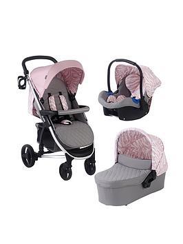 My Babiie Dani Dyer Pink  Grey Travel System