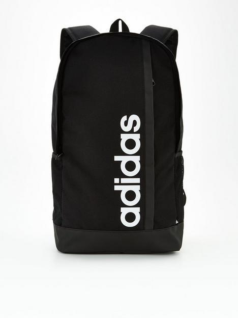adidas-linear-backpack-blackwhite