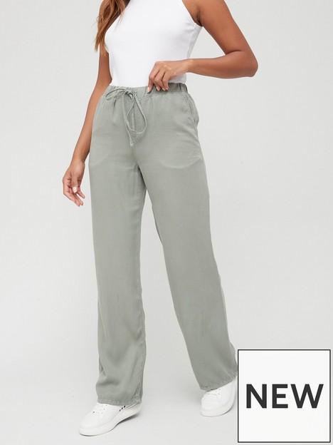 v-by-very-elasticated-waist-soft-touchnbspwide-legnbsptrouser-khaki