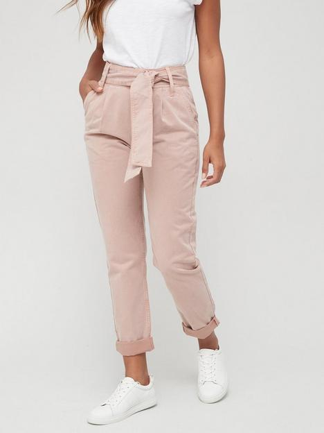 v-by-very-supersoft-belted-casual-trouser-pinknbsp