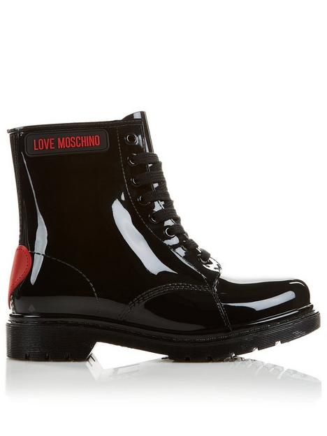 love-moschino-lace-up-heart-logonbsprain-boots-black