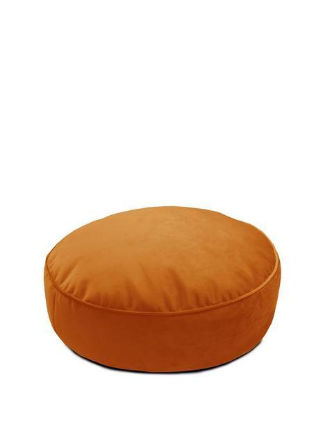 rucomfy-velvet-round-floor-cushion