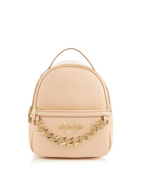 love-moschino-chain-detailnbspbackpacknbsp--blush