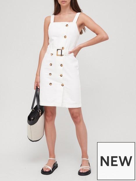 v-by-very-button-front-belted-denim-dress-ecru