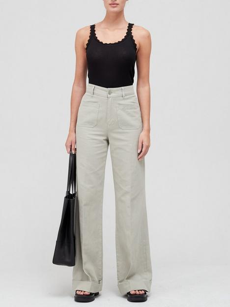 coster-copenhagen-silk-trim-camisole-black
