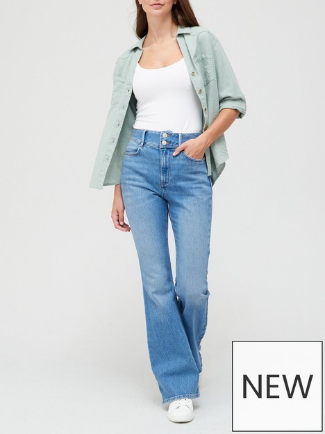 v-by-very-thenbspshaping-flare-jean-bleach-wash