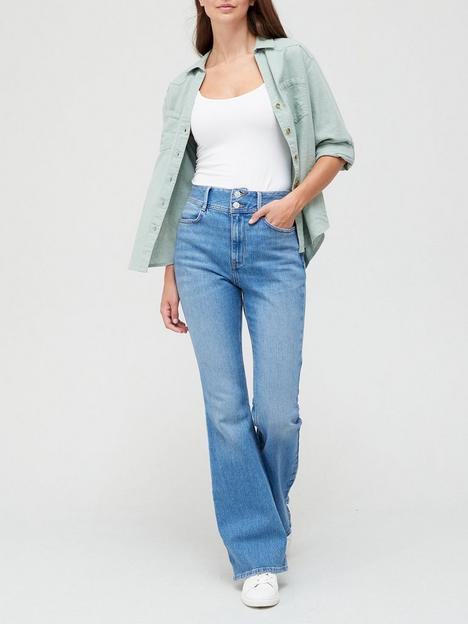 v-by-very-thenbspshaping-flare-jean-midnbspwash