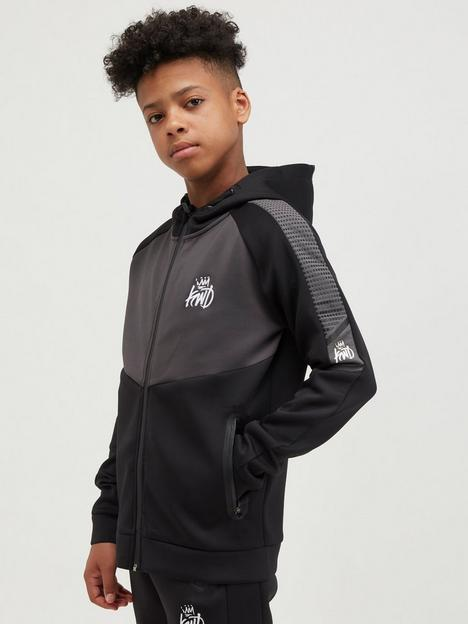 kings-will-dream-junior-grayden-zip-through-hoodie-black