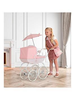 Bella Rosa Carriage Pram Bundle - Pale Pink