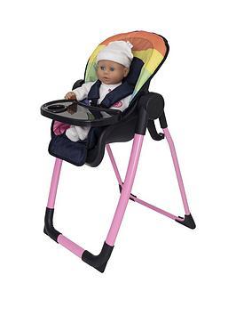 Rainbow Feed And Play High Chair