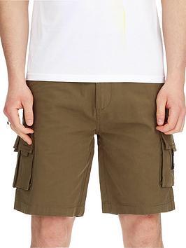 Weekend Offender Weekend Offender Mascia Woven Cargo Shorts - Khaki