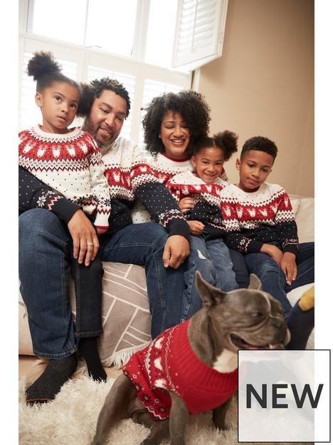 v-by-very-ladies-christmas-knitted-family-reindeer-fairisle-jumpernbsp--ivory
