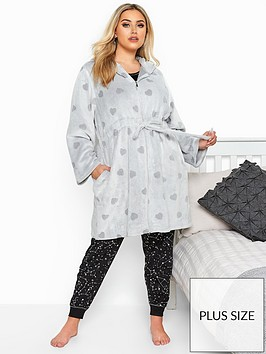 yours-clipped-heart-zip-hooded-robe
