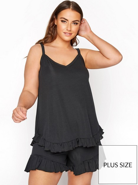 yours-yours-limited-new-frill-pj-top-black